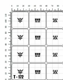 Трафареты для аэрографии Т - 172