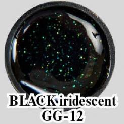 Глиттерный гель Black Iridescent GG-12