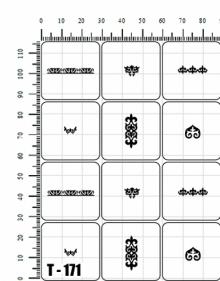 Трафареты для аэрографии Т - 171