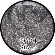Глиттерный гель Silver GG-01