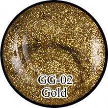 Глиттерный гель Gold GG-02