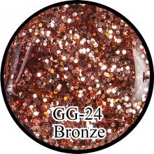Глиттерный гель Bronze GG-24