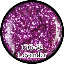 Глиттерный гель Levander GG-32