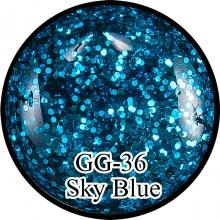 Глиттерный гель Sky Blue GG-36